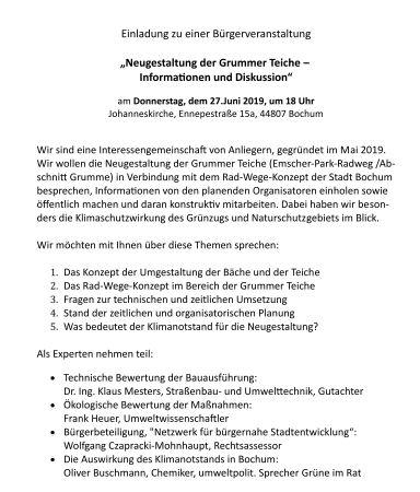 Einladung zur 1. Bürgerversammlung